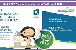 Modul PKB Bahasa Indonesia untuk SMP revisi 2018