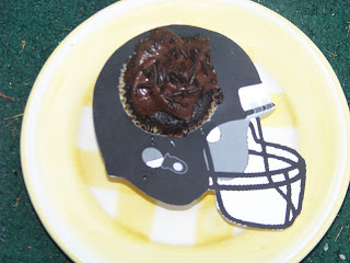 Football Helmet Cupcake Wrapper by Kandy Kreations
