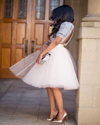 falda de tul blanca de verano