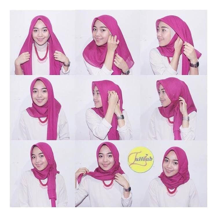 Model Jilbab Segi Empat Simple Untuk Perpisahan Sekolah Hijab Review