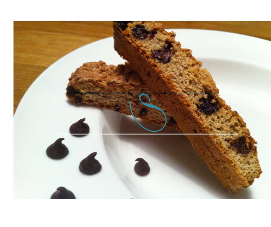 Whole wheat dark Chocolate chip Biscotti - Biscotti blé complet aux pépites de Chocolat noir