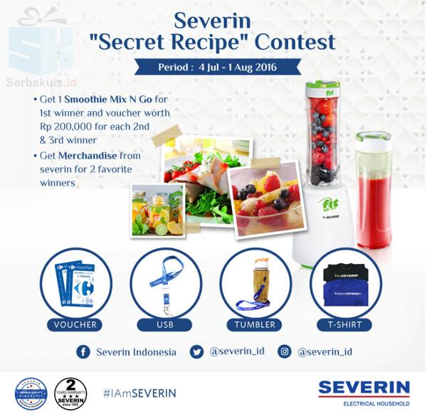 Kontes Secret Recipe Severin Berhadiah Smoothie Mix & Go