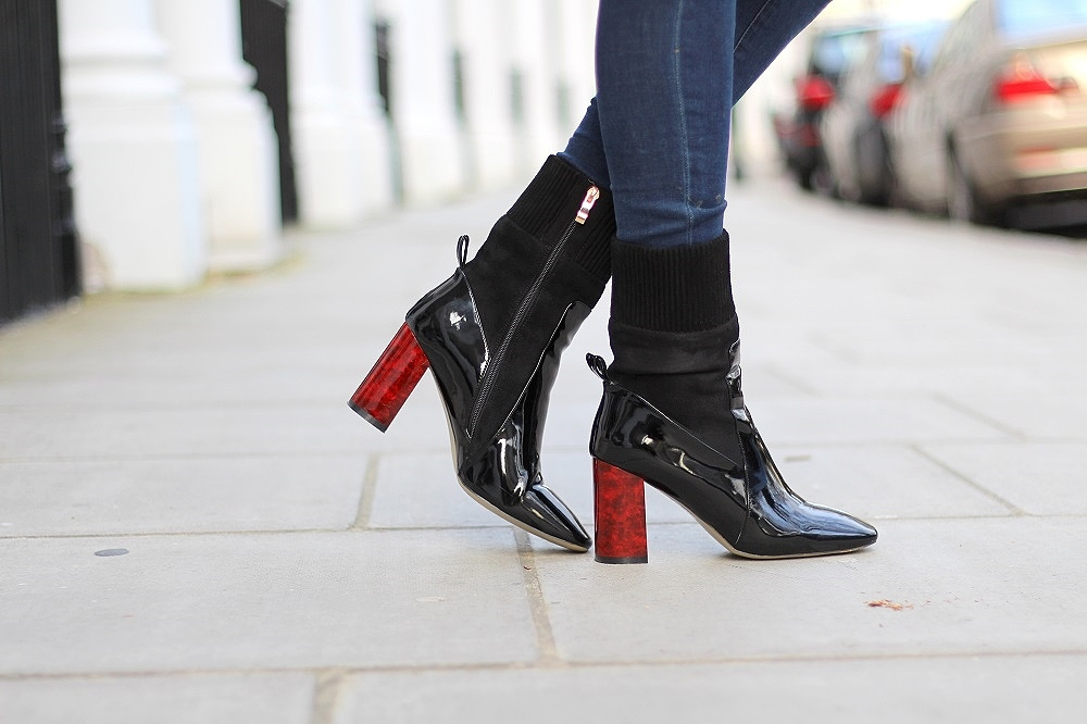 patent ankle boots ego official