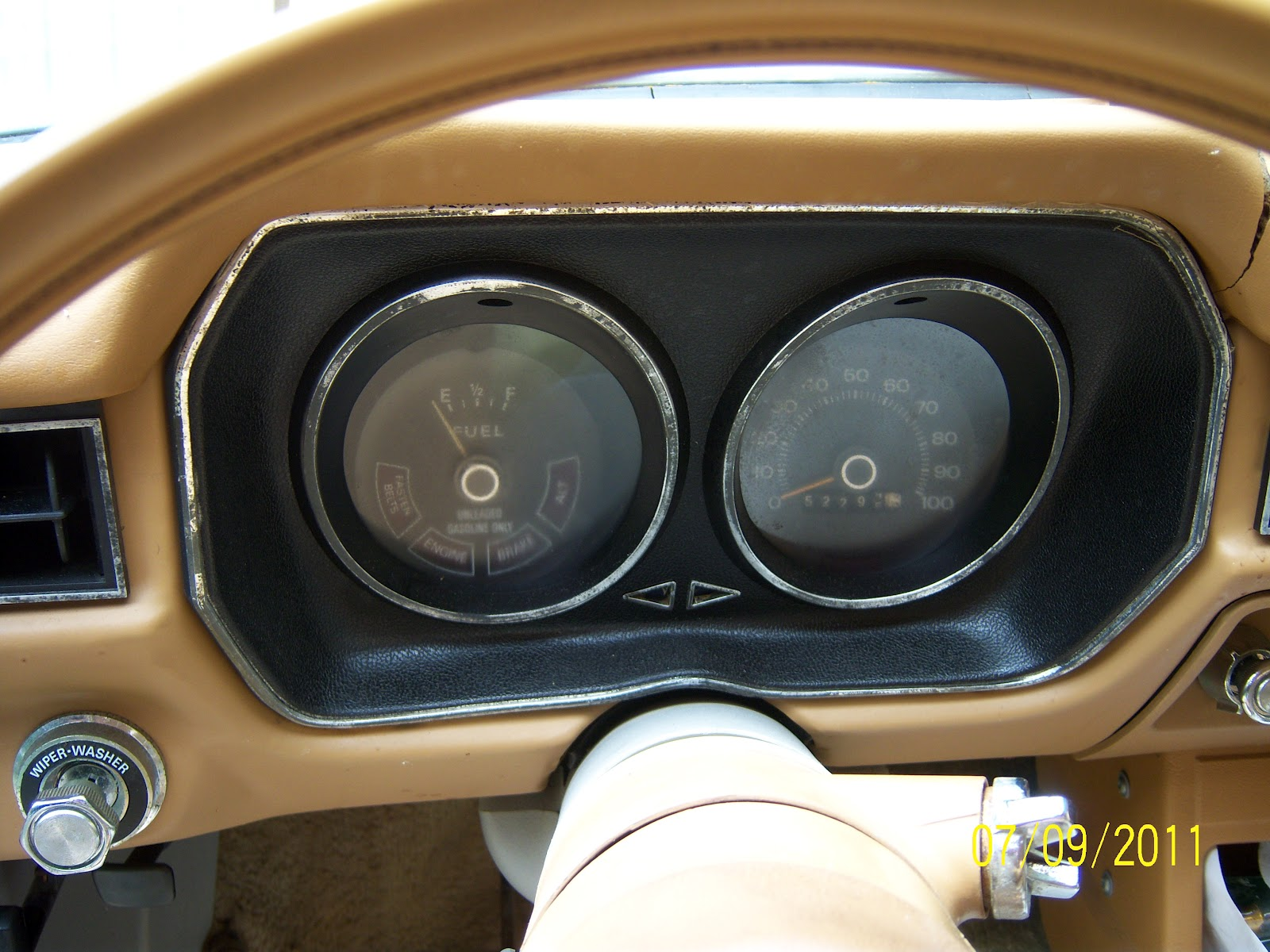 1976 Ford Pinto: Refurbish Instrument cluster on 1976 Ford Pinto