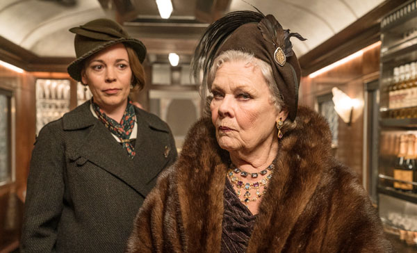 Olivia Colman and Judi Dench play Hildegarde Schmidt and Princess Dragomiroff in MURDER ON THE ORIENT EXPRESS (2017)
