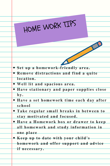 home work tips