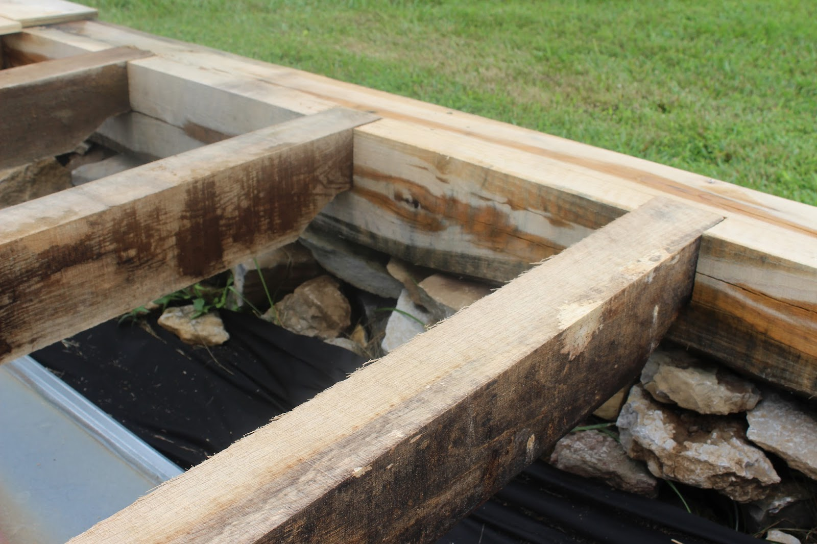Around The Shop: Timber Frame Shed Foundation