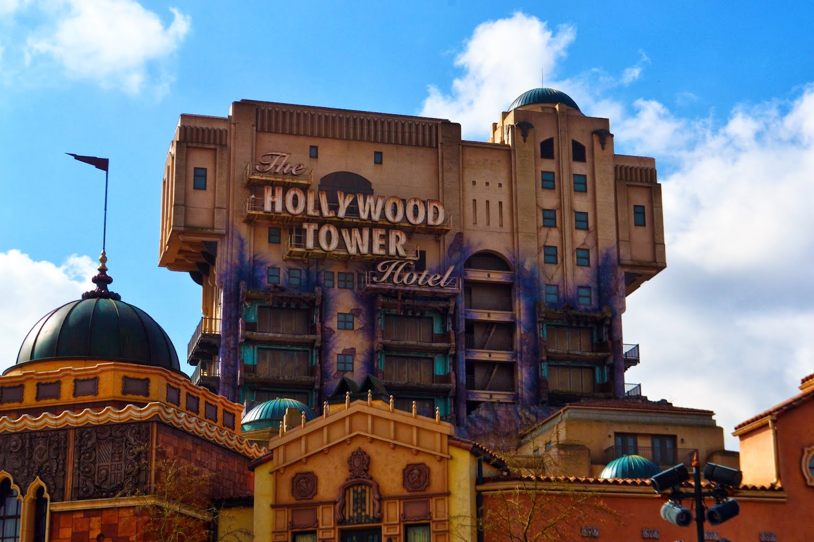 The hollywood tower of terror inside the Disney Studios