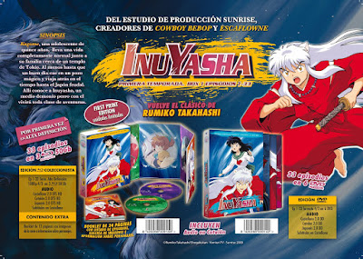 Inuyasha en Bluray y DVD