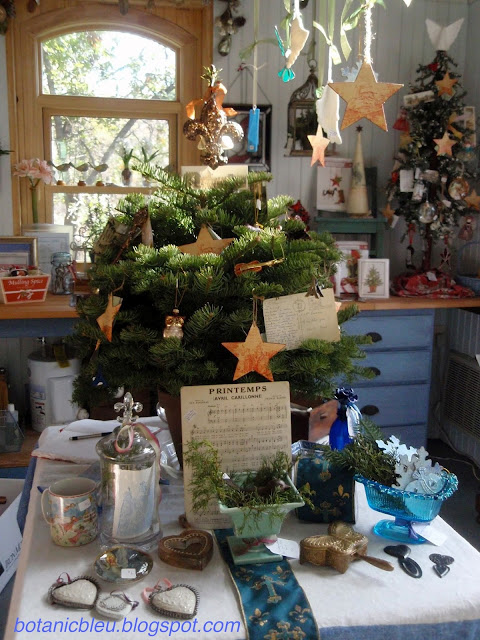 Botanic Bleu garden shed first Country French Christmas sale interior