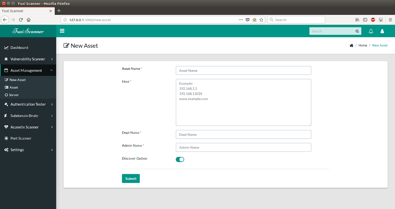Fuxi Scanner – Network Security Vulnerability Scanner