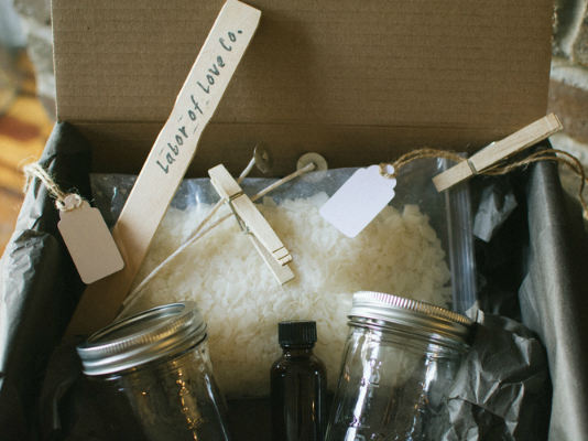 Making Candles with Mom + A Giveaway