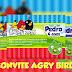 Modelo de convite Angry Birds em Corel Draw