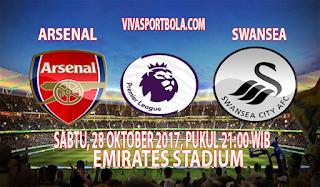 Prediksi Arsenal vs Swansea City 28 oktober 2017