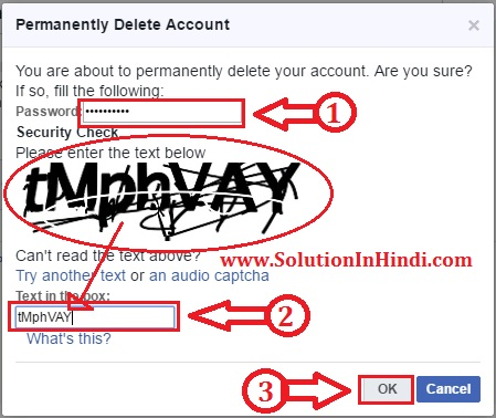 fb account delete permanently in hindi