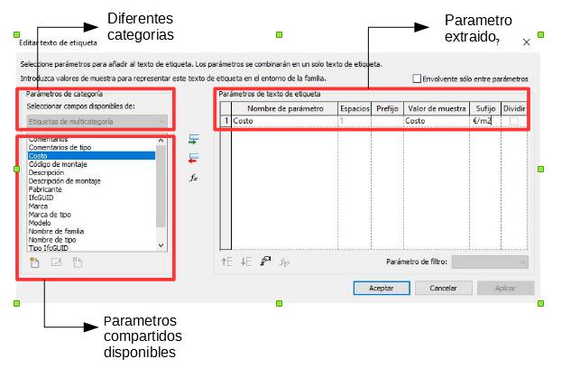 captura de pantalla: parámetros compartidos