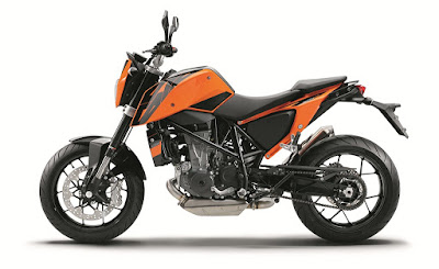 New KTM 690 DUKE orange colour