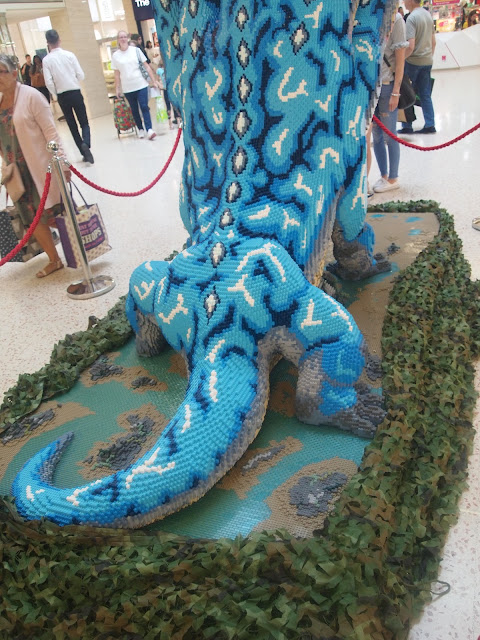 The back of the six headed Hydra - Bright Bricks Mythical Beasts LEGO brick trail at The Mall, Luton