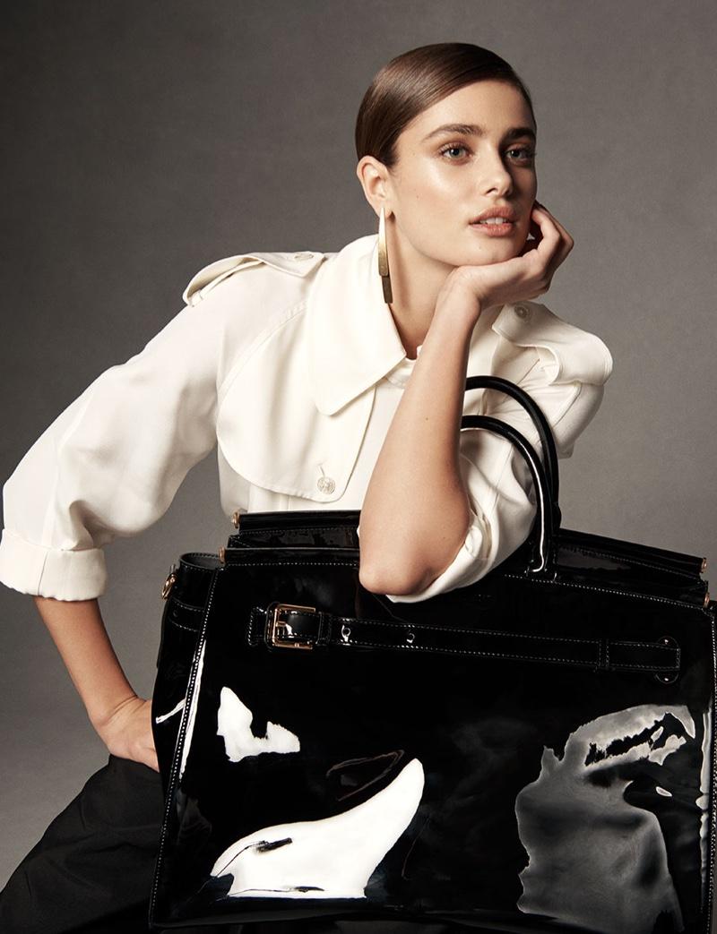 Ralph Lauren RL50 Handbag Campaign featuring Taylor Hill