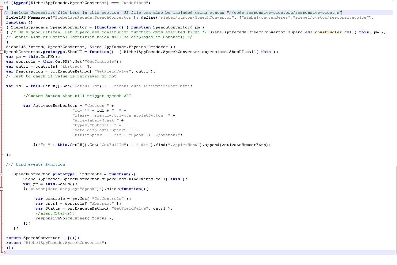 Siebel Foundation: Siebel Open UI Enhancement ,Part 1: Text to