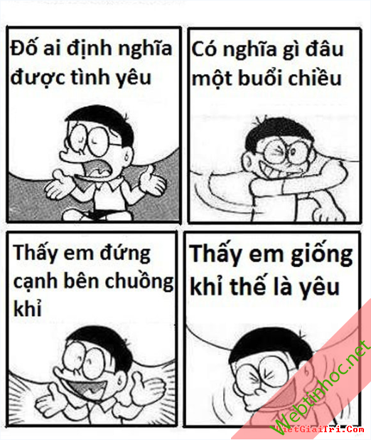 Ảnh chế Nobita thất tình buồn nhưng cười ra nước mắt