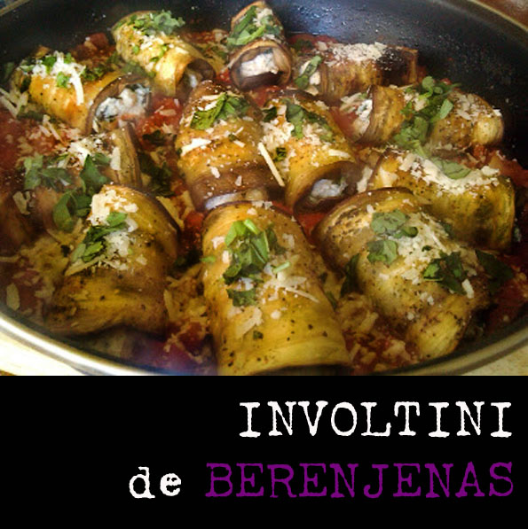 Involtini de berenjenas cocina gastronomía receta italiana ricotta salsa de tomate pecorino