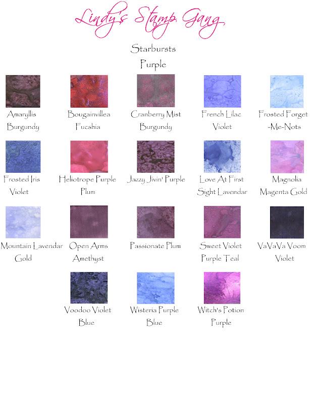 Lindy U0026 39 S Stamp Gang  Lsg Color Charts