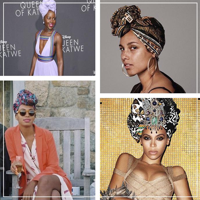 Inspiração: Famosas usando turbantes afro