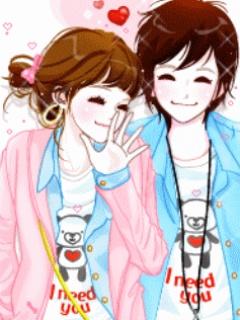 Gambar Kartun Korea Cute Couple