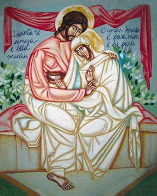 Amor Esponsal - Ícones para grupo de oração, seminário de vida no Espírito Santo e eventos