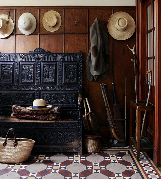 Juxtaposition Of Traditional And Contemporary Elements In Interior Design: CANOE DESIGN: Encaustic Tile