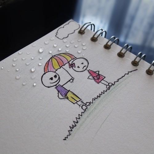 Berjalan Sepayung Denganmu Ketika Hujan, Menanti Pelangi Mewarnai Langit