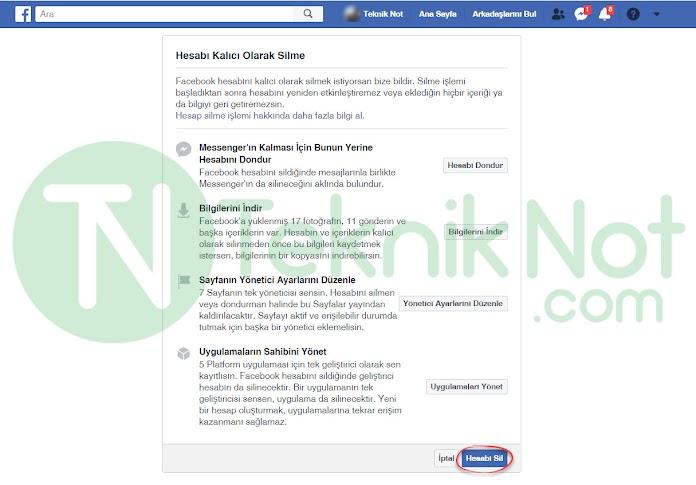 Facebook Hesabını Kalıcı Olarak Silme Resimli Anlatım