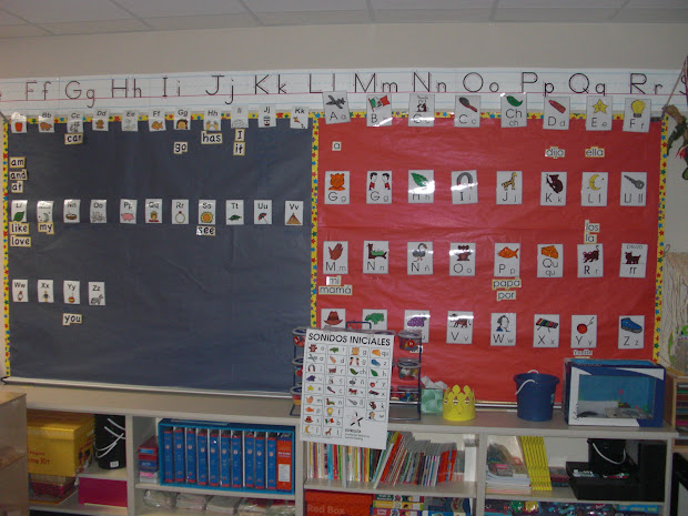 Teach Dual Language Bilingual Word Walls.worth Space