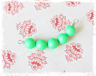 image diy funky neon necklace tutorial bar swarovski crystal pearl green