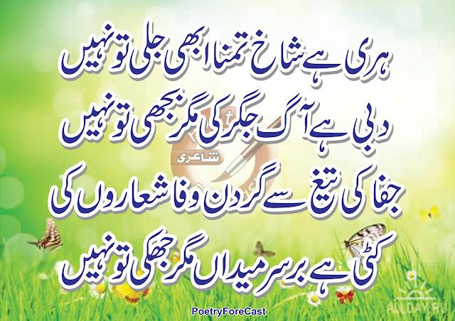 Tamanna Shayari 2 Lines Urdu Poetry