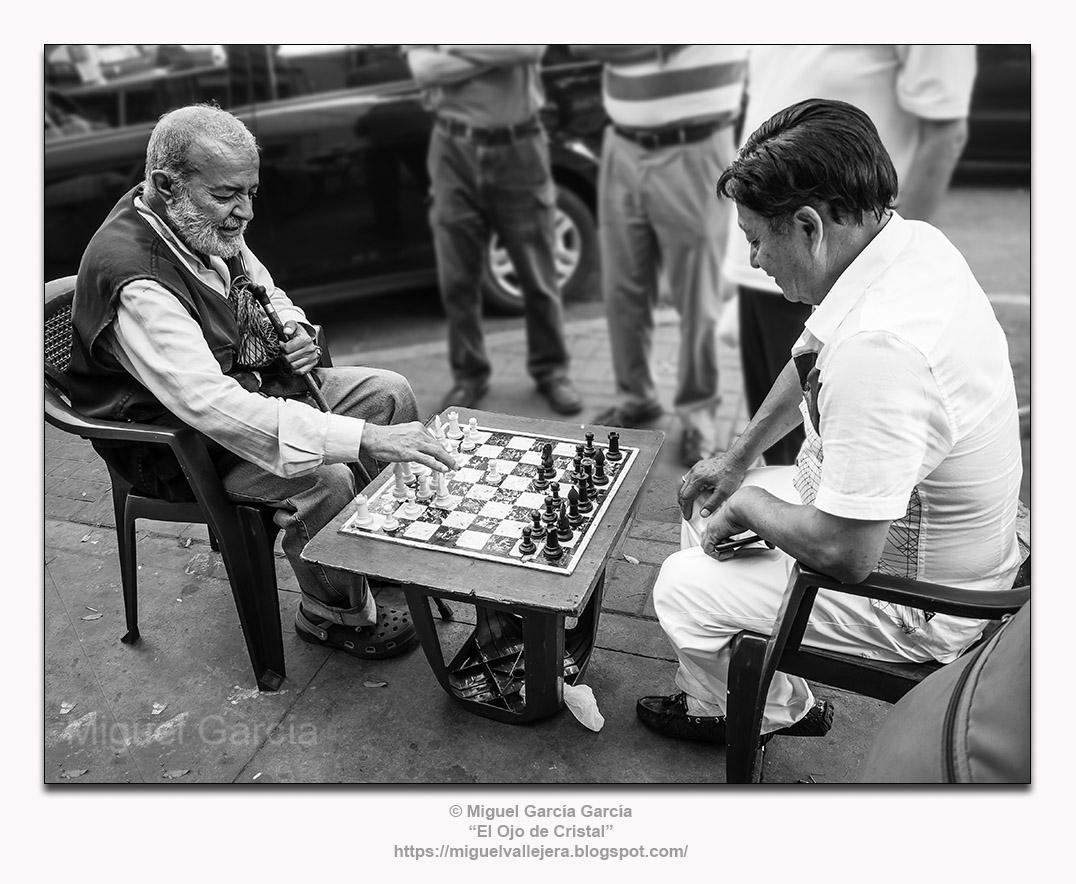 La partida de ajedrez.