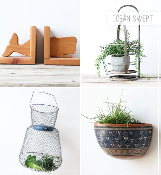 Vintage coastal findings for the home by Ocean Swept