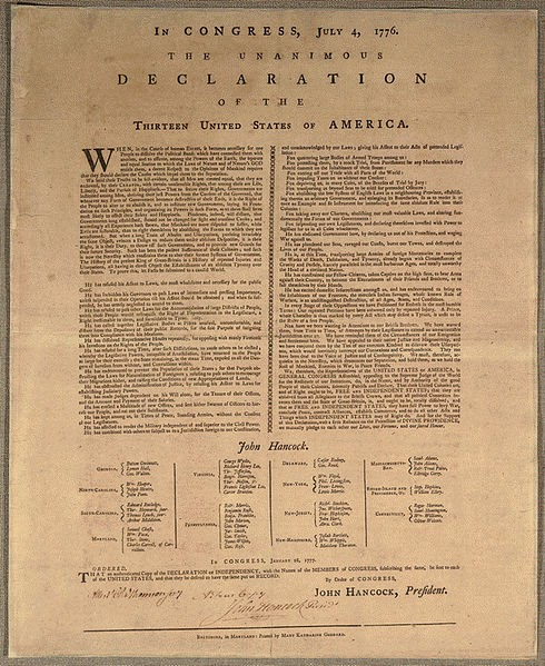 Goddard Broadside, 1776