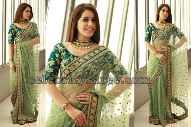 Rashi Khanna Designer Net Sarees1