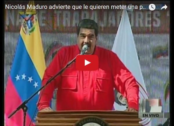 Maduro asegura que dentro de su propio círculo quieren matarlo