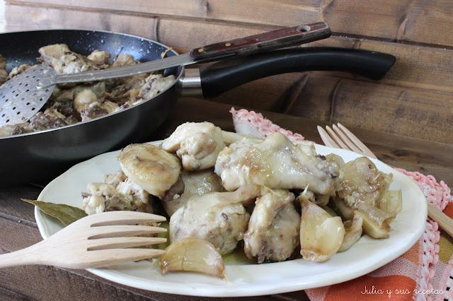 Pollo al ajillo. Julia y sus recetas