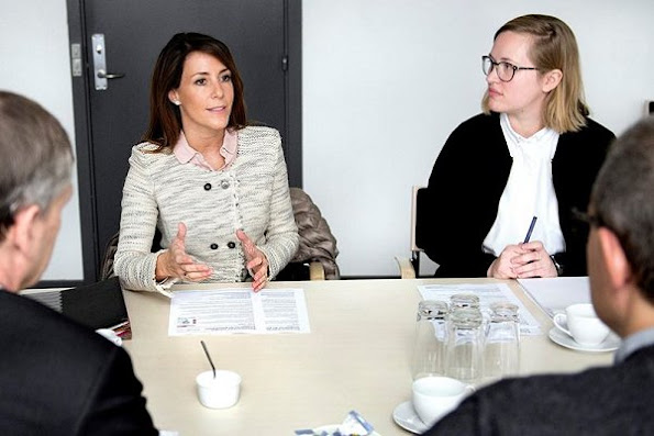 Princess Marie attend Dema meting. Princess Marie wore Isabel Marant jacket/Blazer