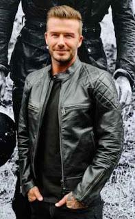 model jaket kulit artis eropa david beckham
