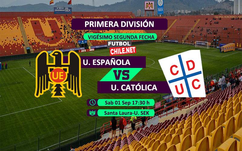 Mira Unión Española vs Universidad Católica en vivo y online por la Primera División