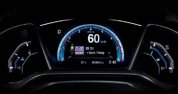 meter panel led Honda Civic 2016 Malaysia