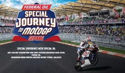 Gratis! Nonton Langsung MotoGP Seri Malaysia Bersama Federal Oil