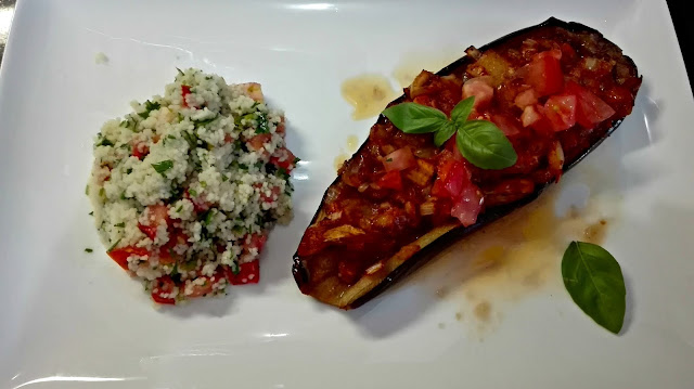 Fort Lauderdale Personal Chef - Imam Eggplant Aubergine with Couscous