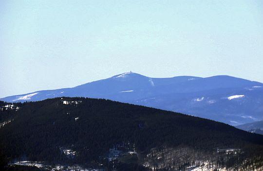 Lysá hora (1324 m n.p.m.) w Beskidzie Śląsko-Morawskim.