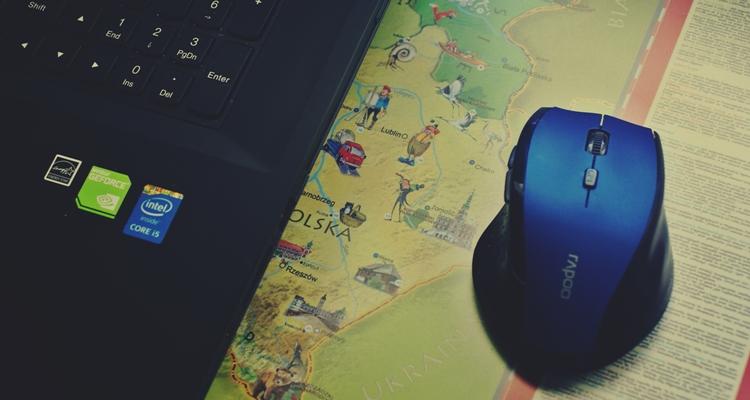 mapa podkładka na biurko pod mysz